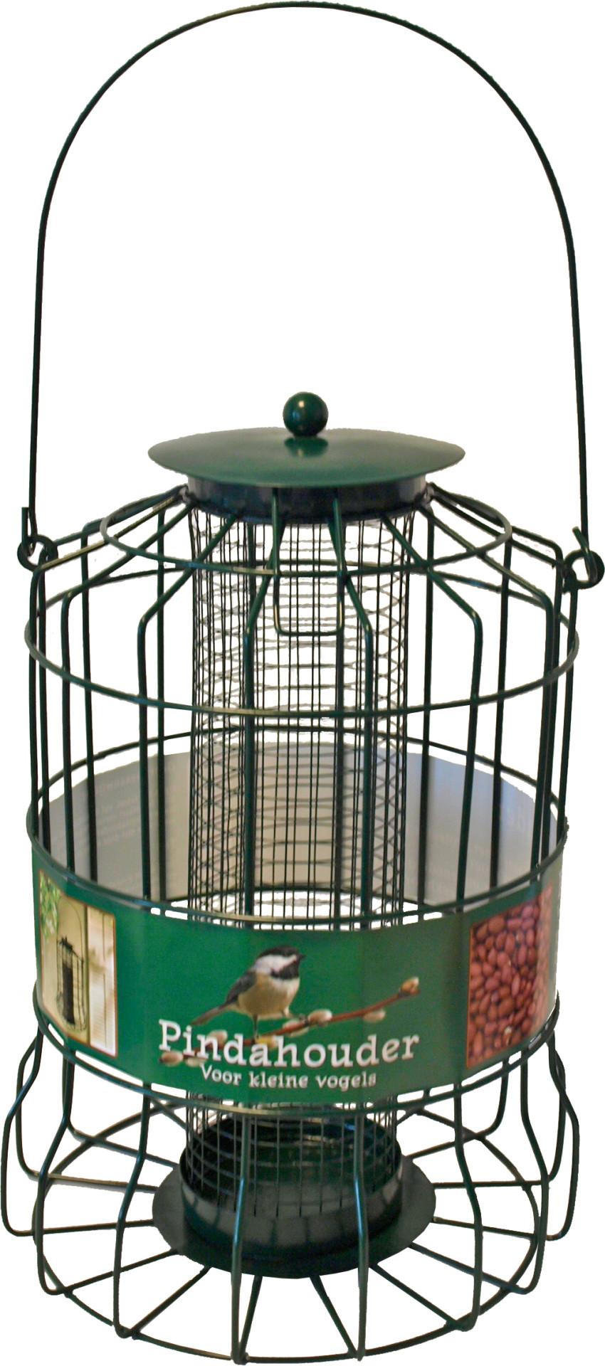 Pindahouder voor kleine vogels metaal groen