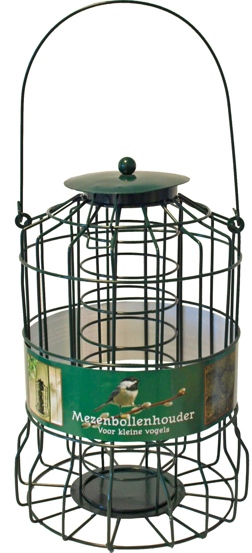 Mezenbolhouder voor kleine vogels metaal groen
