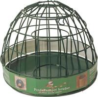 Pindakaaspothouder voor kleine vogels metaal groen thumb
