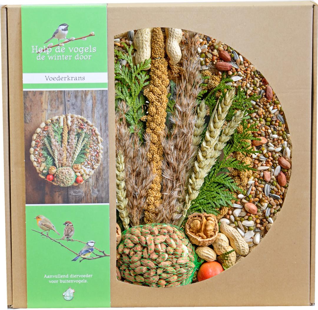 Voederkrans met pindanet en decoratie <br>Ø 28 cm