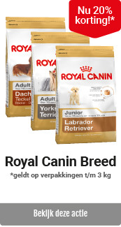 Royal Canin hond Breed kleinverpakkingen 20% korting