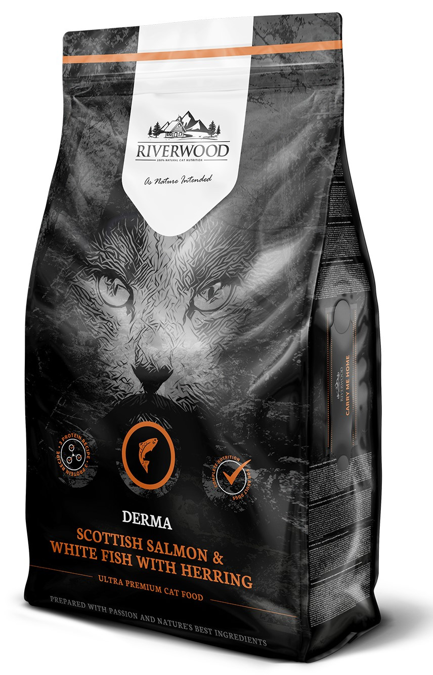 Riverwood kattenvoer Derma Scottish Salmon & White Fish 6 kg
