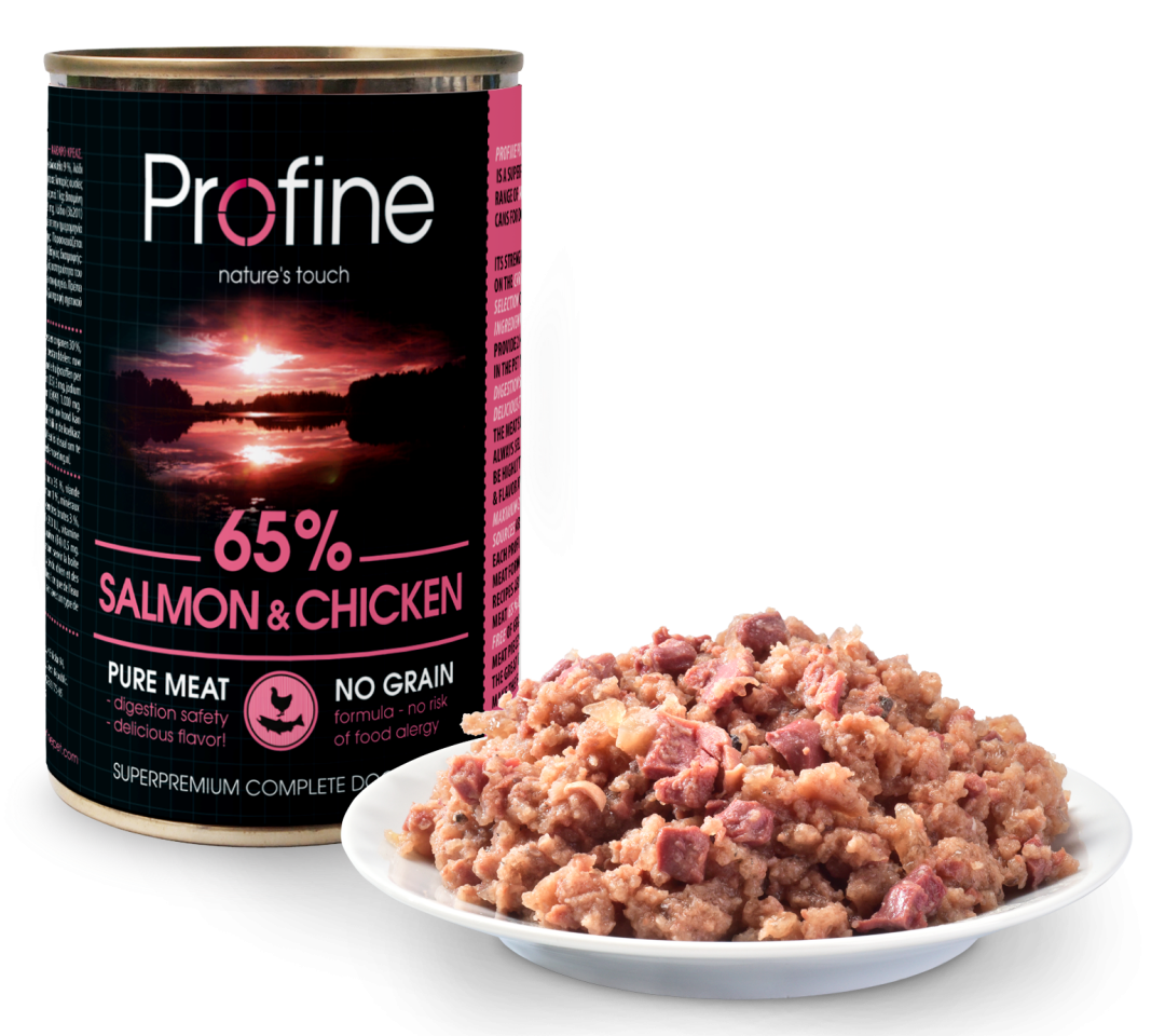 Profine Pure Meat 65% salmon/chicken 400 gr
