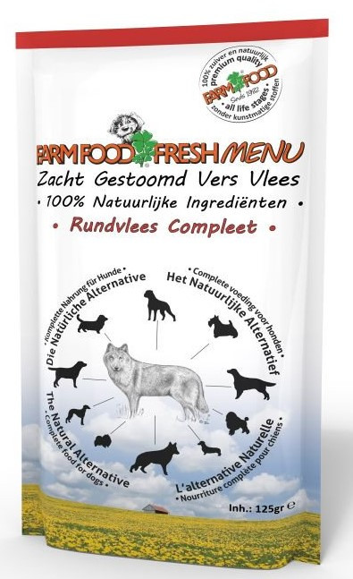 Farm Food Fresh Menu Rundvlees Compleet 125 gr