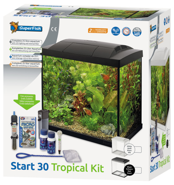 SuperFish aquarium Start 30 Tropical kit zwart