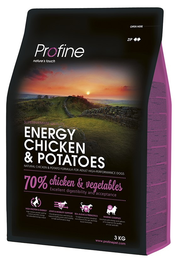 Profine hondenvoer Energy Chicken & Potatoes 3 kg