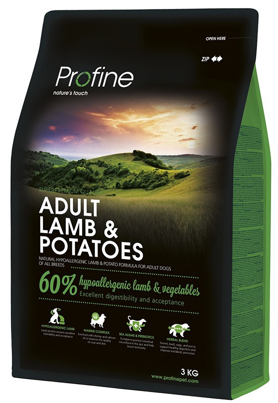 Profine hondenvoer Adult Lamb & Potatoes 3 kg