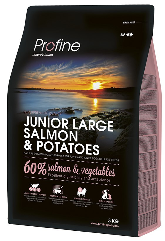 Profine hondenvoer Junior Large Salmon & Potatoes 3 kg