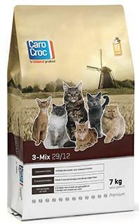 CaroCroc kattenvoer <br>3-Mix 7 kg