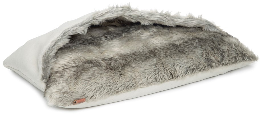 Designed by Lotte kussen met slaapzak Rizla grijs