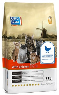 CaroCroc kattenvoer with Chicken 7 kg