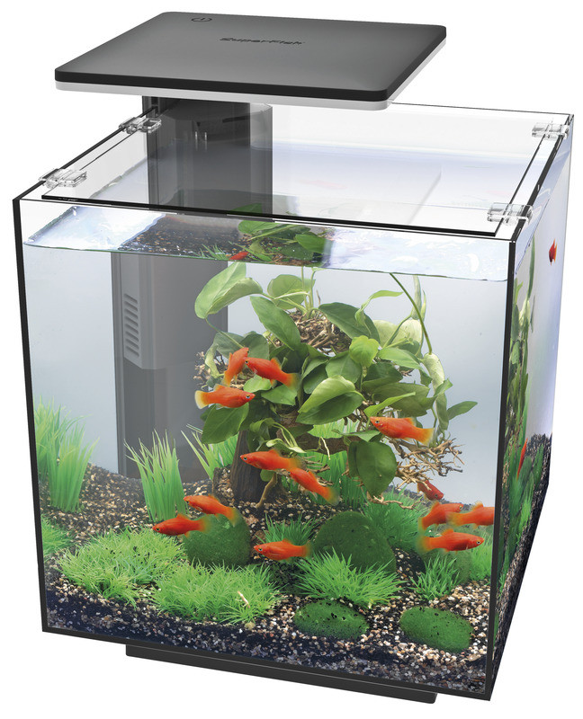 SuperFish aquarium Qubiq 30 LED zwart