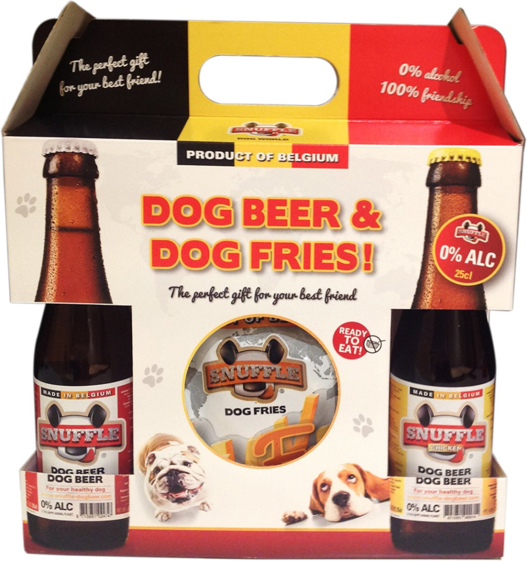 Snuffle Dog Beer & Dog Fries giftbox