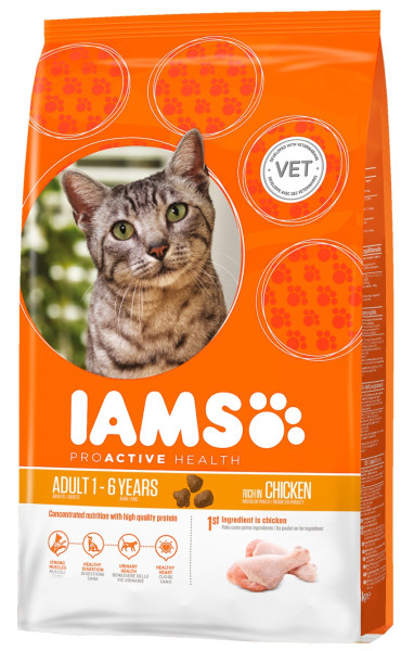 IAMS kattenvoer Adult Chicken 10 kg