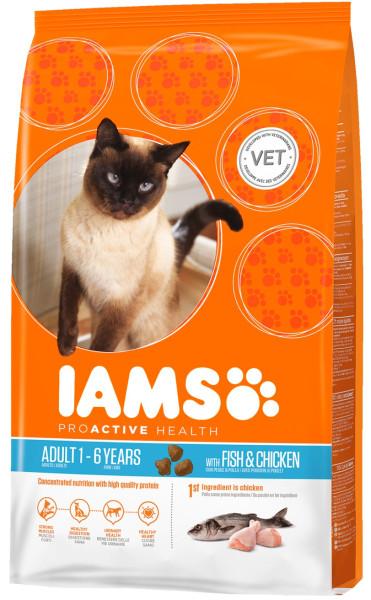 IAMS kattenvoer Adult Fish & Chicken 10 kg