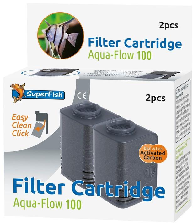 SuperFish Aqua-Flow 100 Easy-Click cartridge 2 st