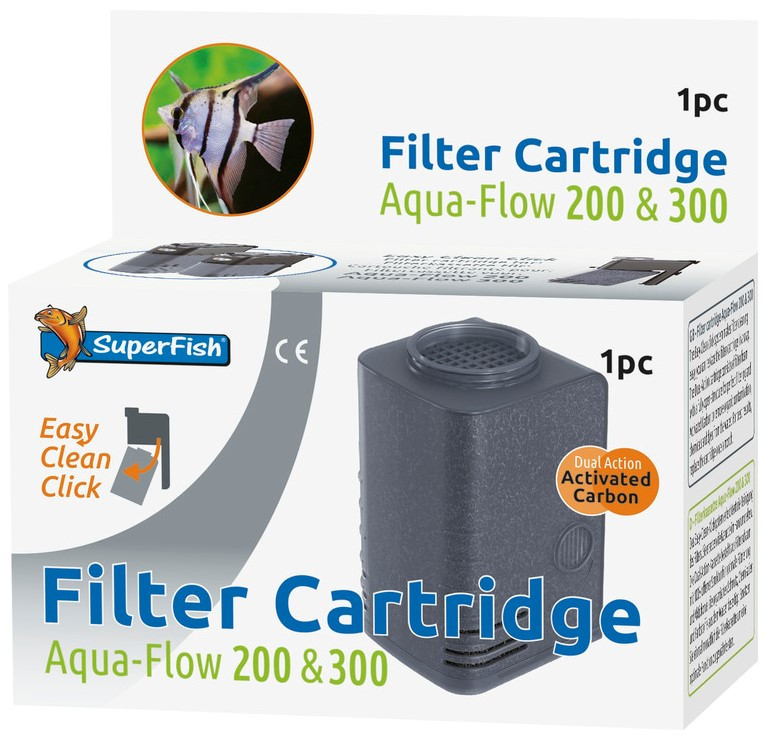 SuperFish Aqua-Flow 200/300 Easy-Click cartridge 1 st