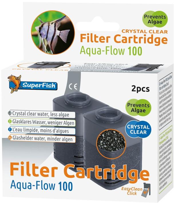 SuperFish Aqua-Flow 100 Crystal Clear cartridge 2 st