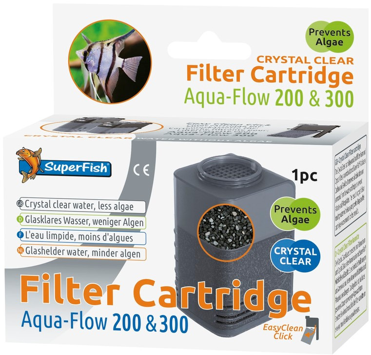 SuperFish Aqua-Flow 200/300 Crystal cartridge 2 + 1