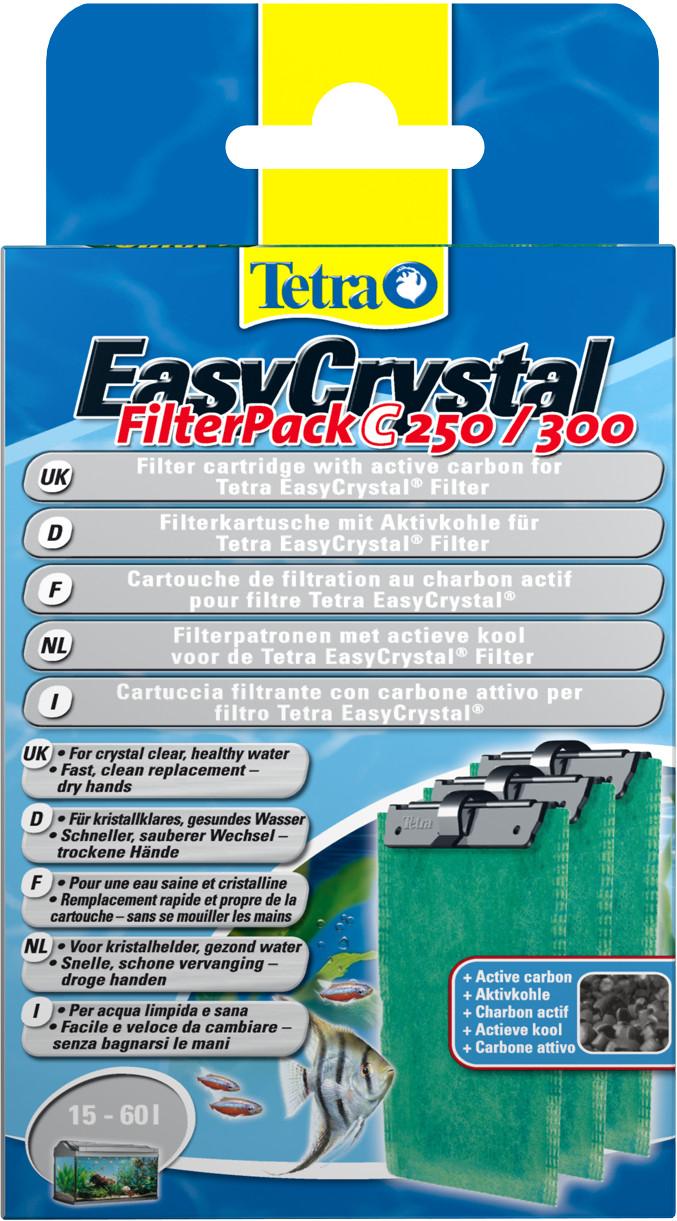 Tetra EasyCrystal filterpack koolstof C250/300 3 st
