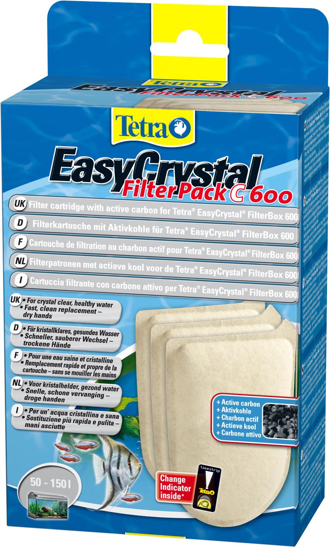 Tetra EasyCrystal filterpack koolstof C600 3 st