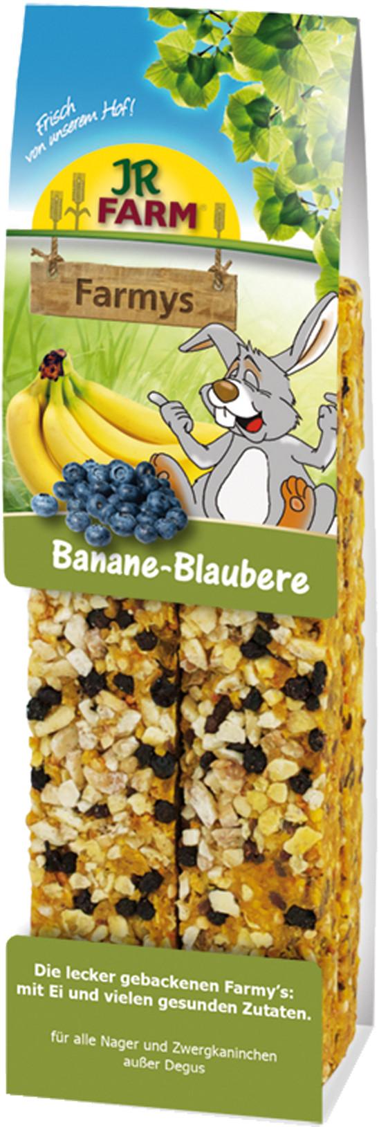 JR Farm Farmys banaan/blauwe bessen 160 gr
