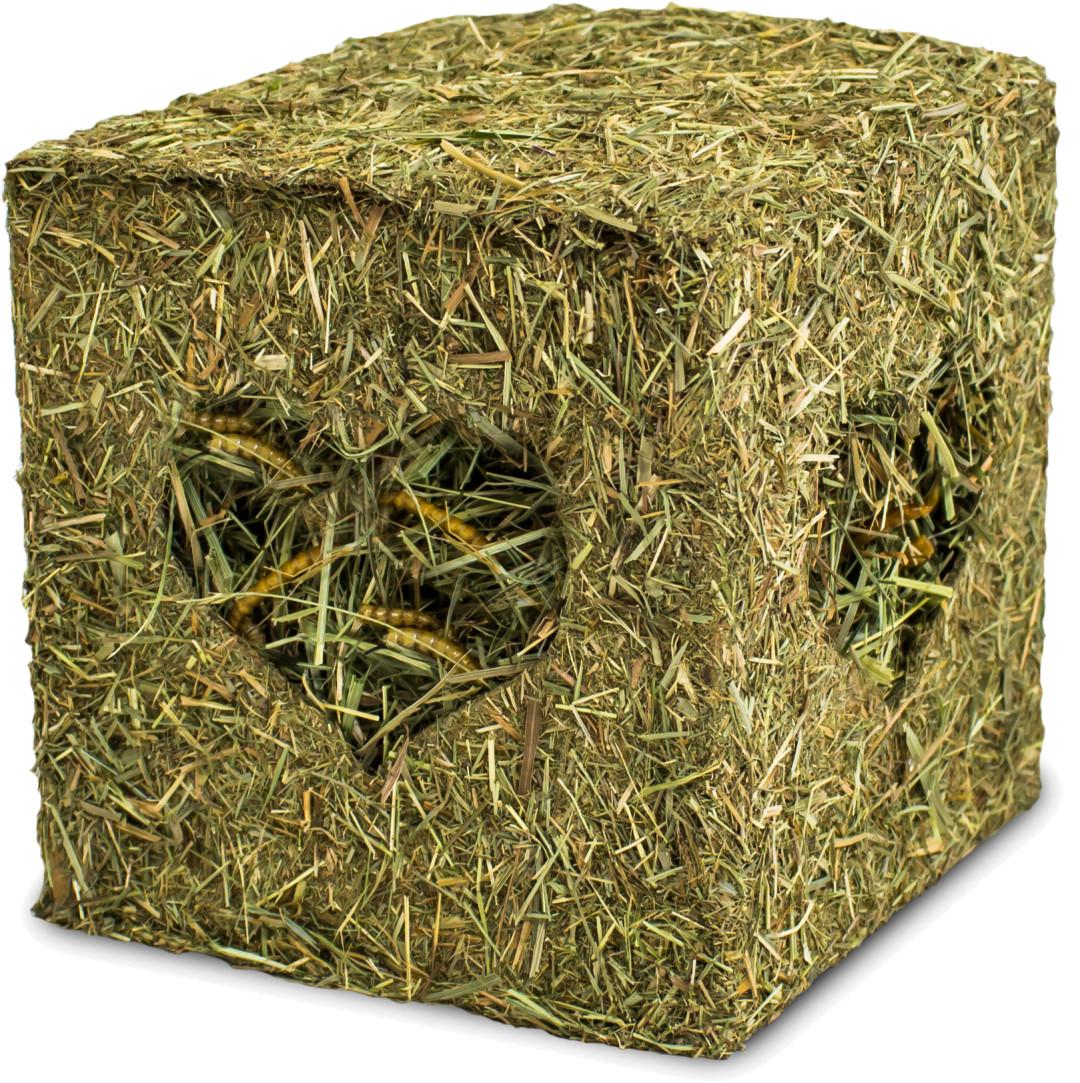 JR Farm hooiblok met meelwormen 125 gr