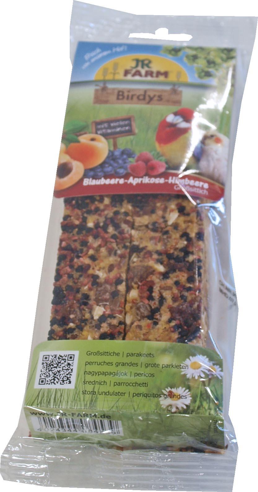 JR Farm Birdy agapornis blauwe bes/ abrikoos/framboos 260 gr