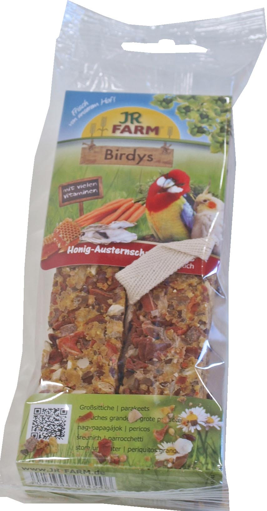 JR Farm Birdy agapornis honing/ oesterschel/wortel 260 gr