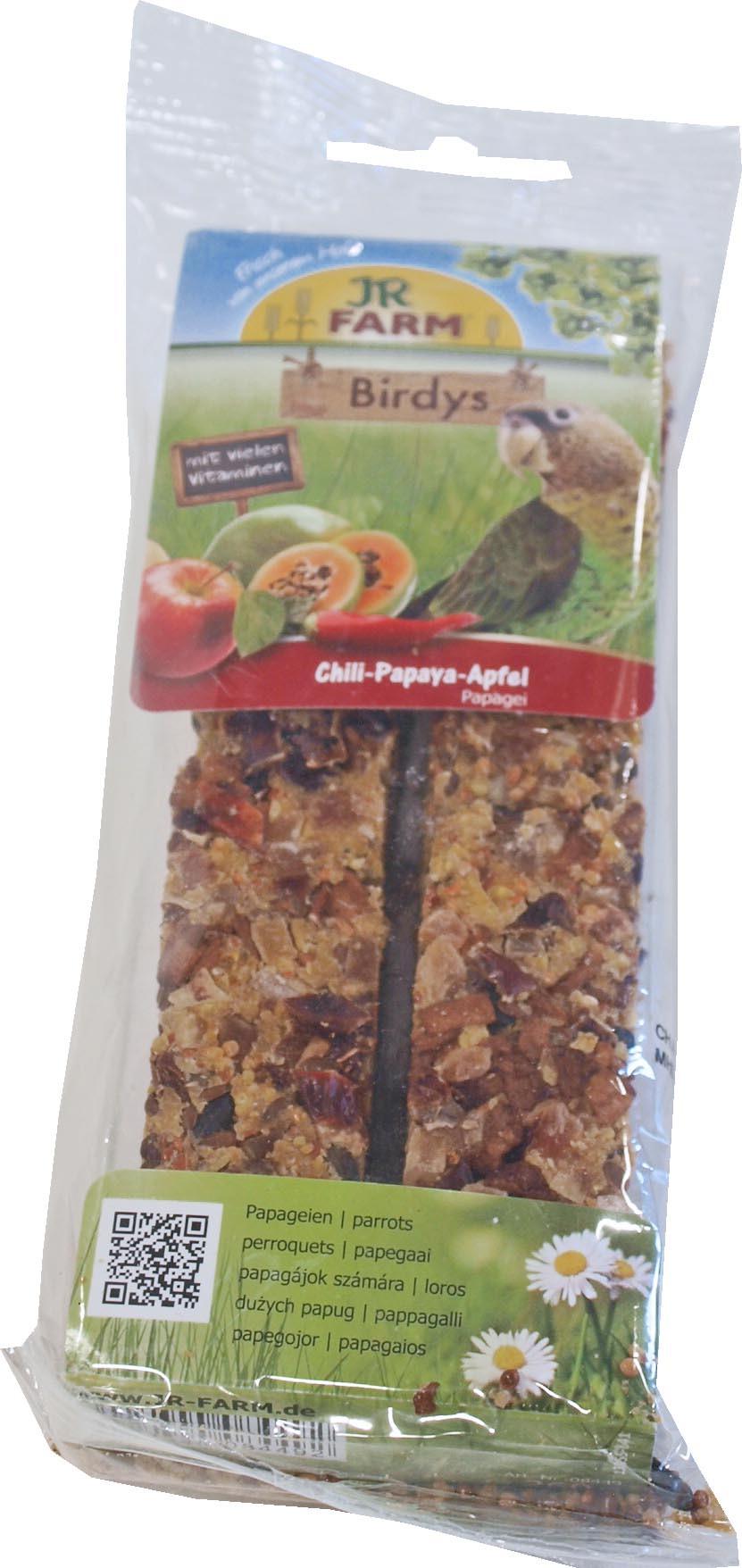 JR Farm Birdy papegaai chili/papaya/appel <br>260 gr