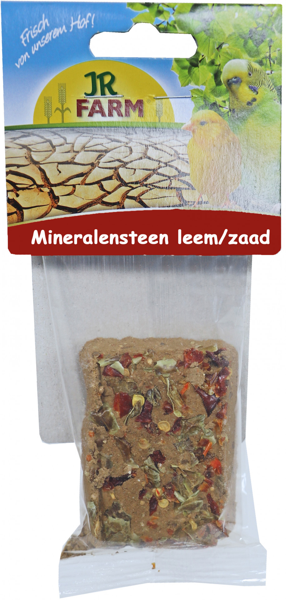JR Farm mineraalsteen leem/zaad 75 gr