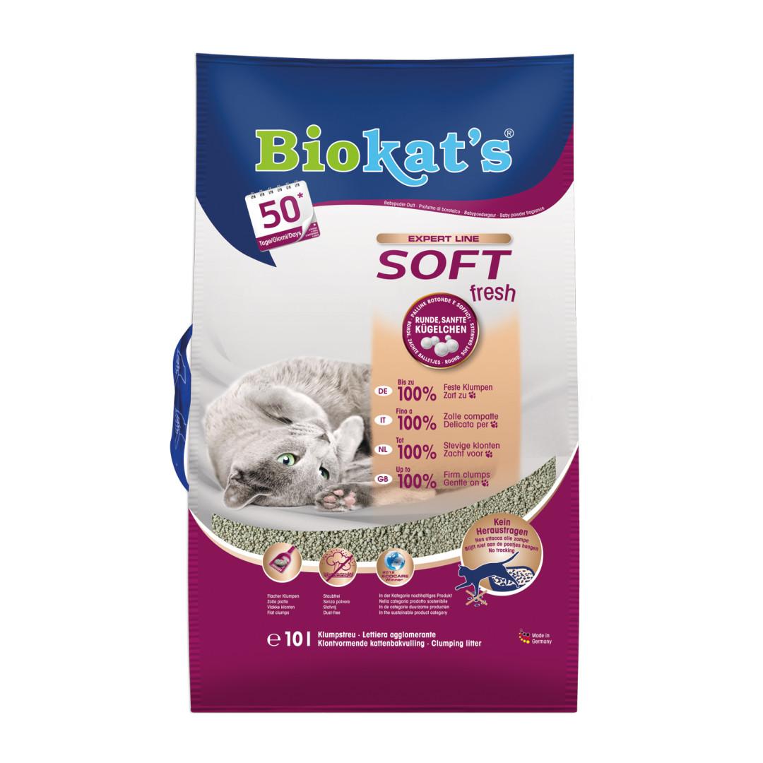 Biokat's kattenbakvulling Soft Fresh 10 ltr