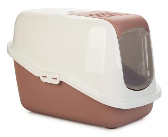 Savic kattenbak Nestor roze/wit