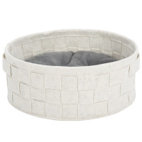 Scruffs Habitat felt bed pearl white thumb