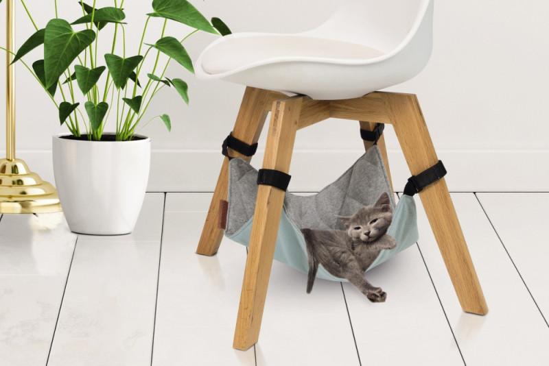 Beeztees hangmat voor stoel Loungy grijs