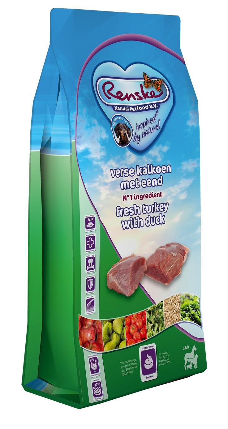 Renske hondenvoer Super Premium kalkoen & eend 2 kg