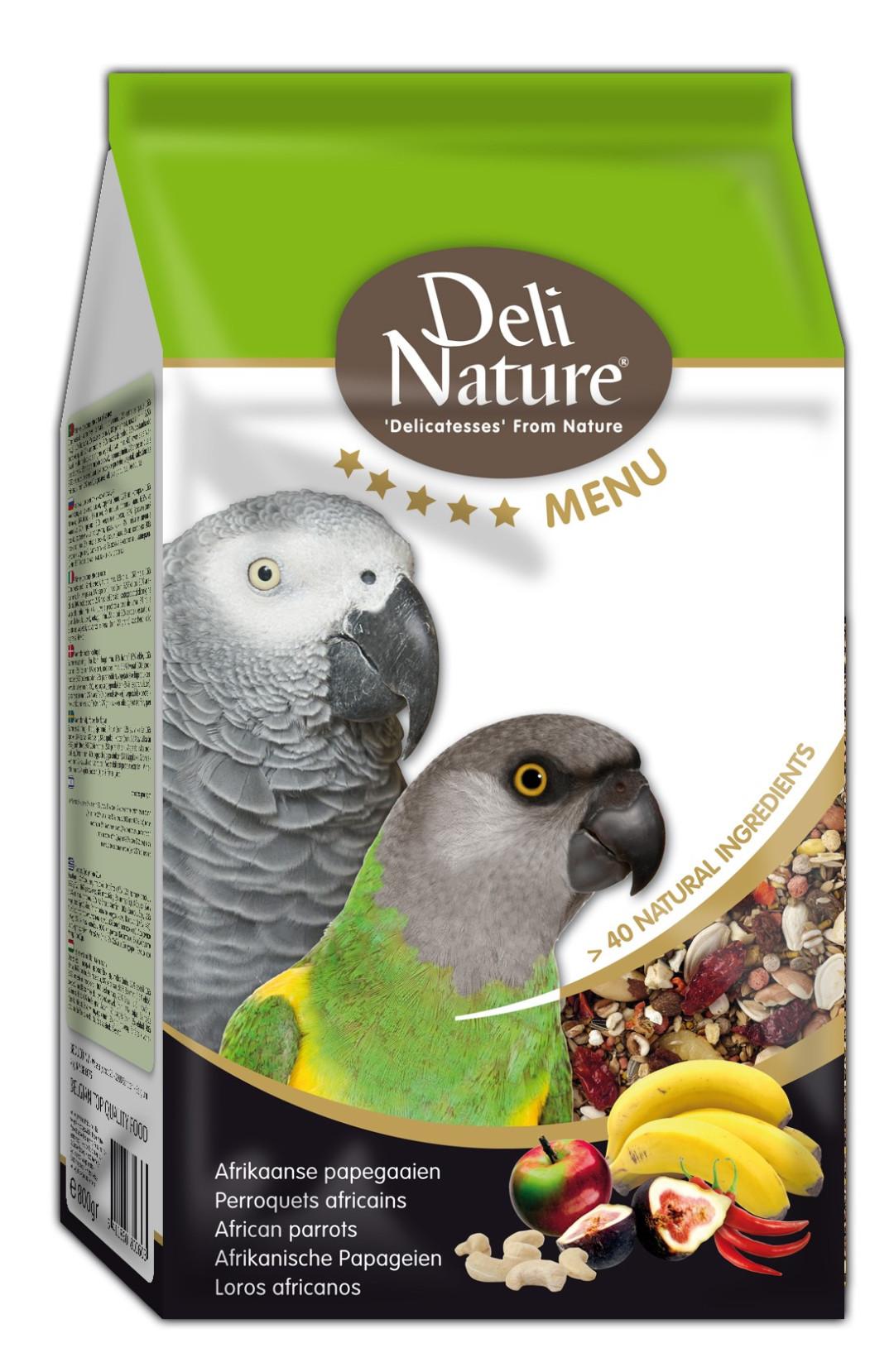 Deli Nature vijf sterren menu Afrikaanse Papegaai 800 gr