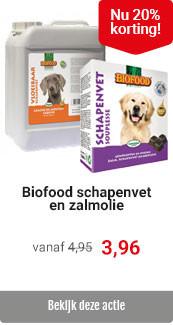 Biofood vet en olie 20% korting