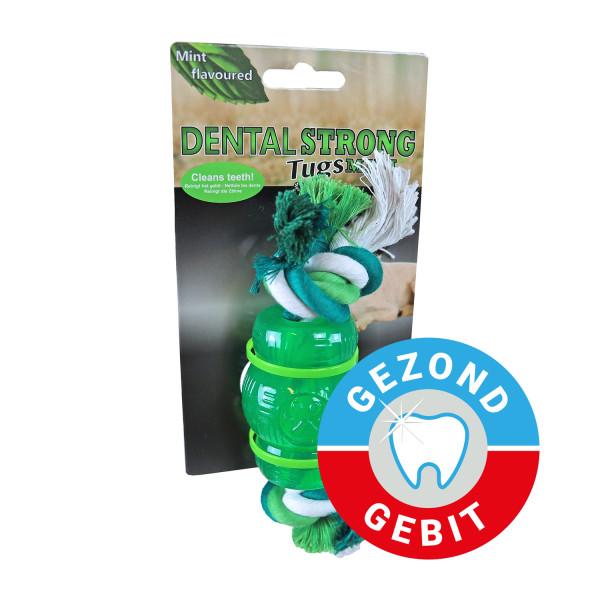 Dental Strong Mini chew met floss 7 cm groen