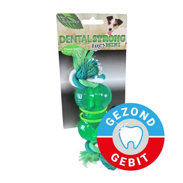 Dental Strong Mini bot met floss 9 cm groen