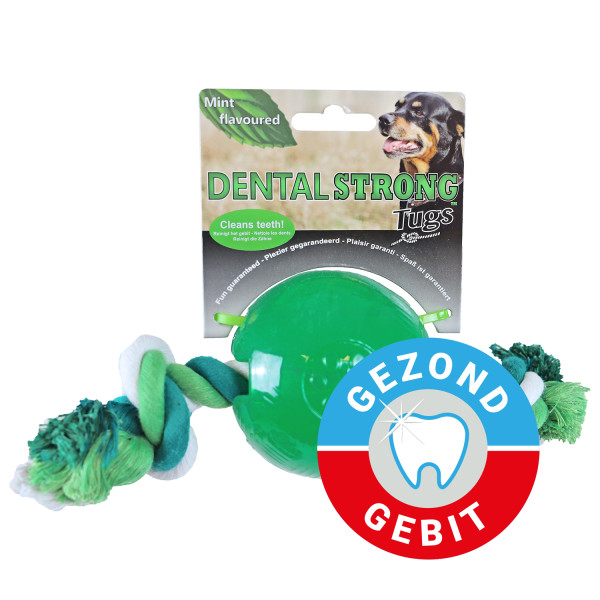 Dental Strong bal met floss groen