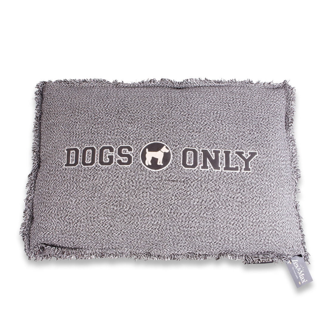 Lex & Max boxbed Dogs Only grey