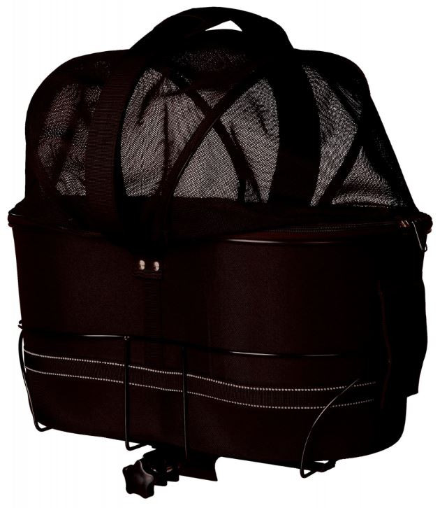 TRIXIE fietsmand brede bagagedragers zwart
