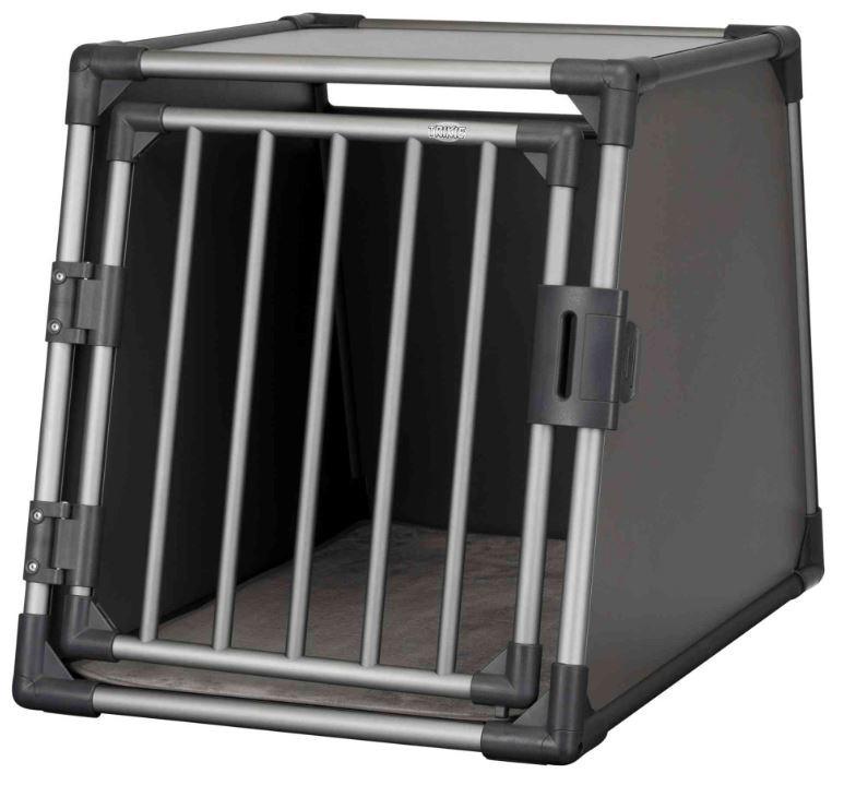 TRIXIE vervoersbox aluminium M/L grafiet
