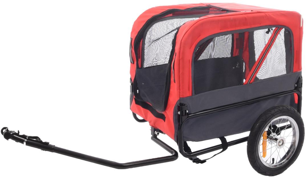 Hondenfietskar Doggy Liner Romero rood/grijs