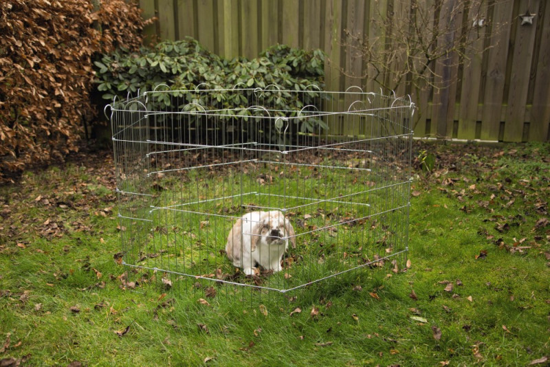 Beeztees konijnenren verzinkt 6 panelen