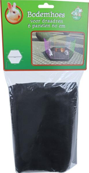 Bodemhoes voor draadren zwart 11 cm