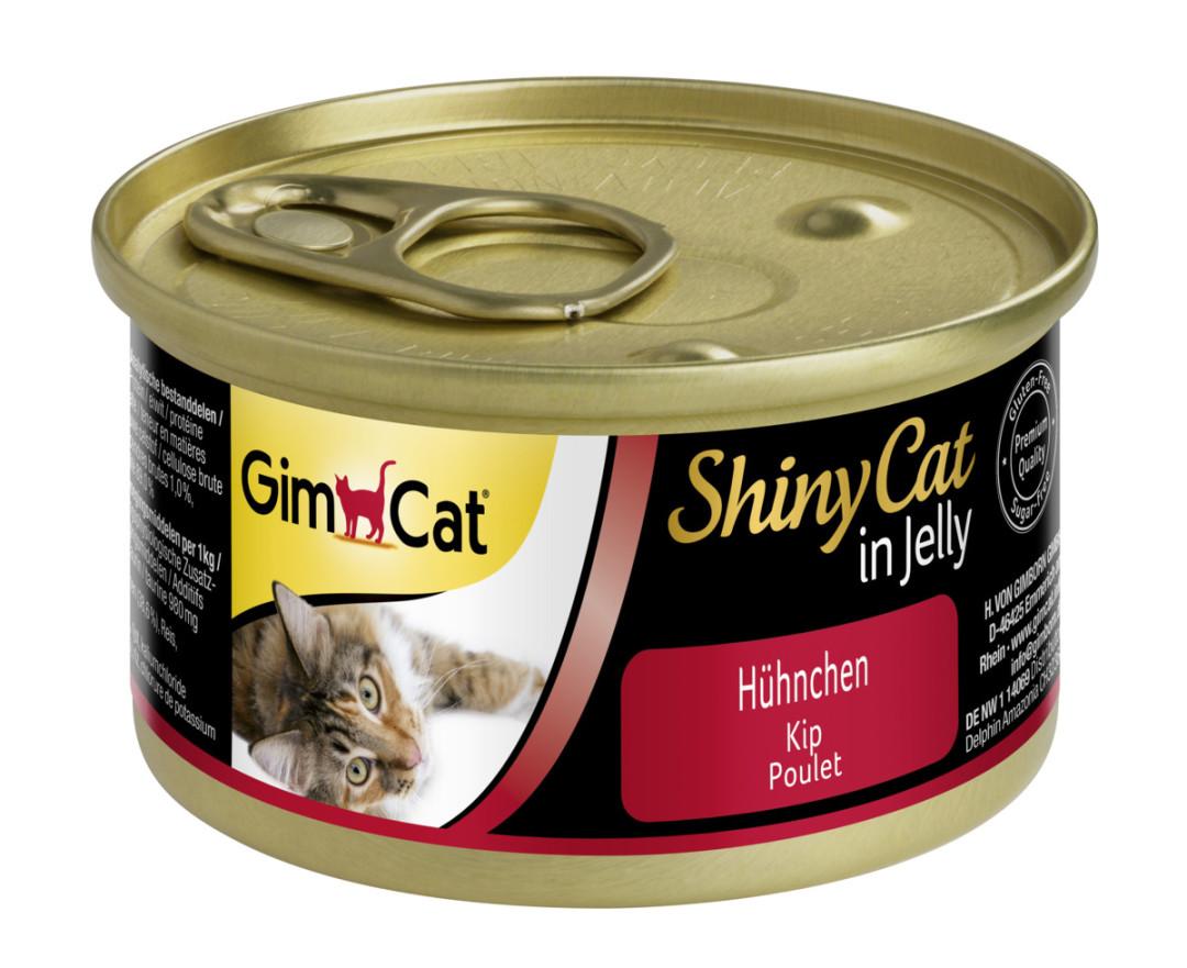 GimCat kattenvoer ShinyCat in jelly kip <br>70 gr