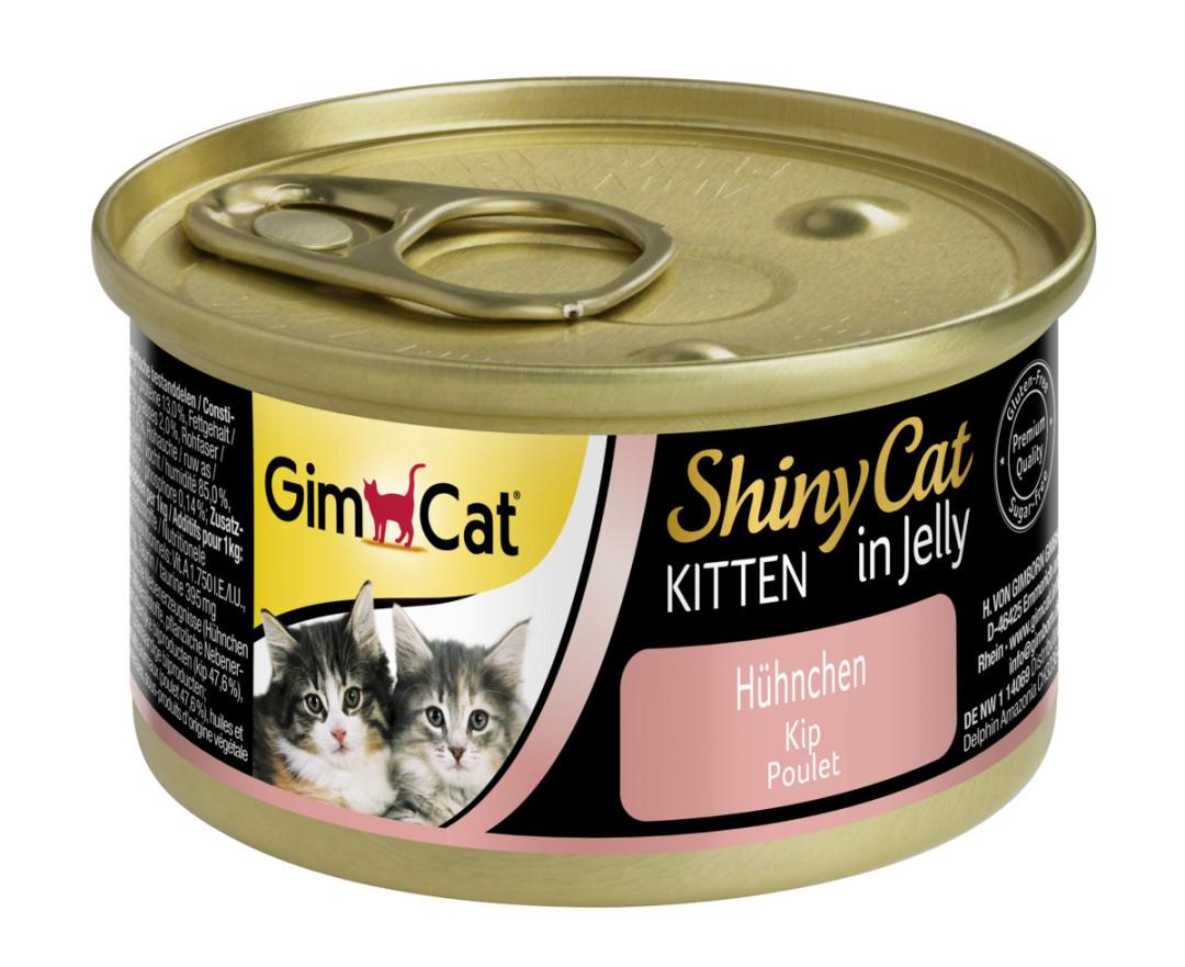 GimCat kattenvoer ShinyCat in jelly Kitten kip 70 gr