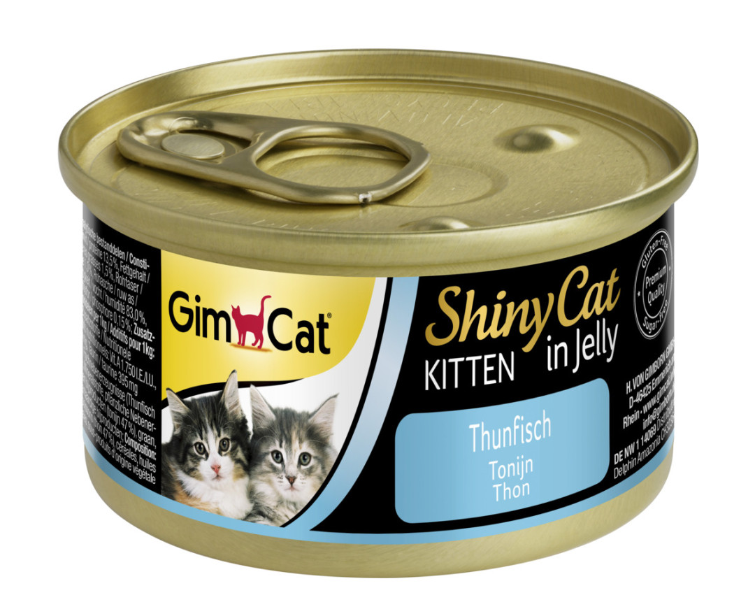 GimCat kattenvoer ShinyCat in jelly Kitten tonijn 70 gr